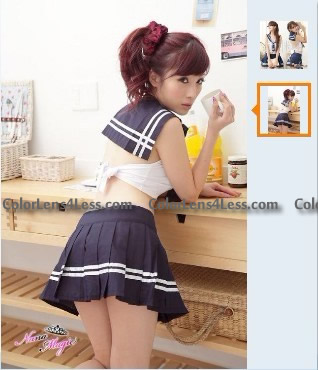 Sexy School Girl cosplay costume fancy dress Full Outfit Uniform