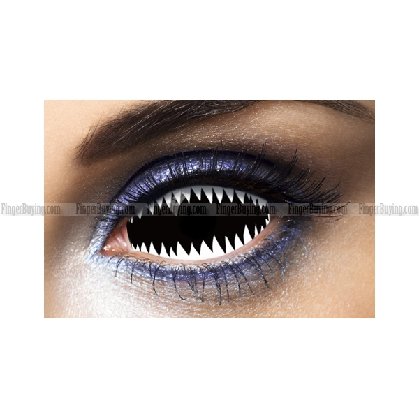 Jaws White Sclera Contacts (PAIR)