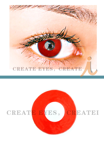 Blood Red Crazy Contact Lens(PAIR)