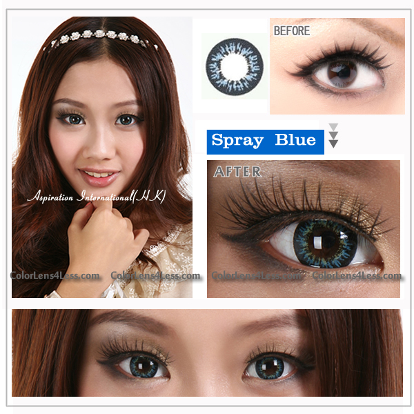 EOS Spray Blue Colored Contacts (Pair)