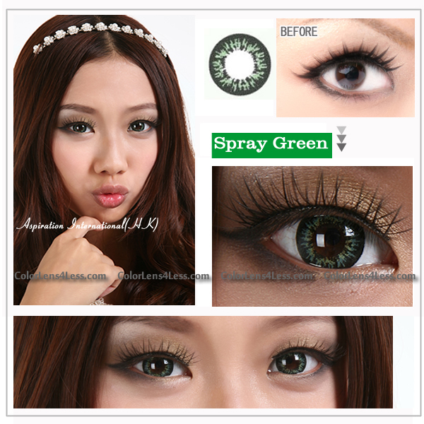 EOS Spray Green Colored Contacts (Pair)