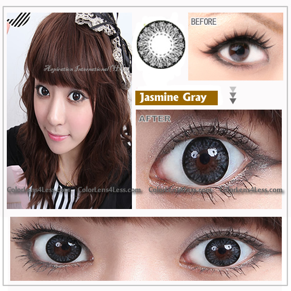 EOS Jasmine Grey Colored Contacts (PAIR)