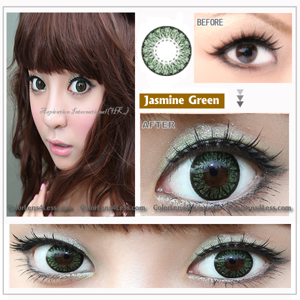 EOS Jasmine Green Colored Contacts (Pair)