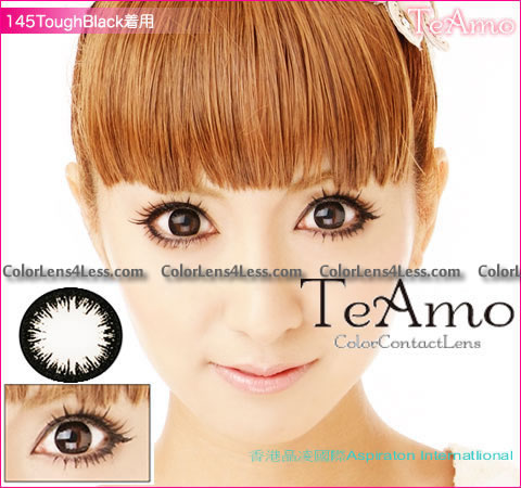 TeAmo Darling Black Colored Contacts (PAIR)