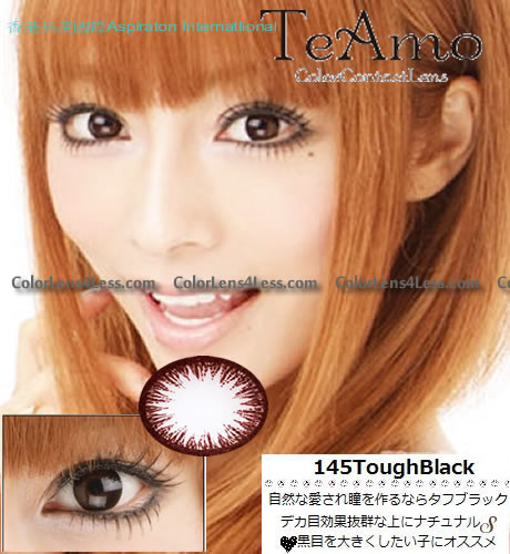 TeAmo Darling Tough Black Colored Contacts (PAIR)