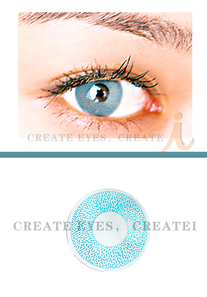 Aqua Single Colored Contacts (PAIR)