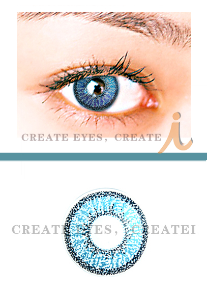 Aqua Double Colored Contacts (PAIR)