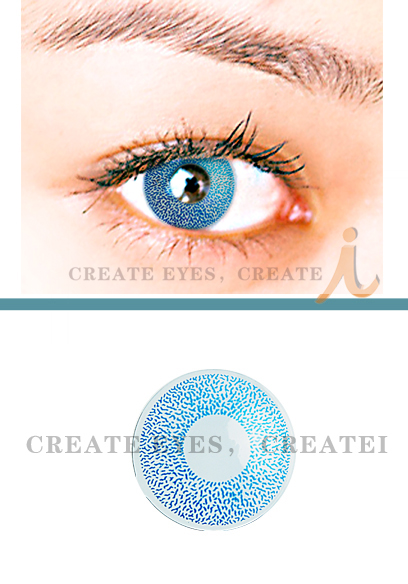 Blue Single Colored Contacts (PAIR)