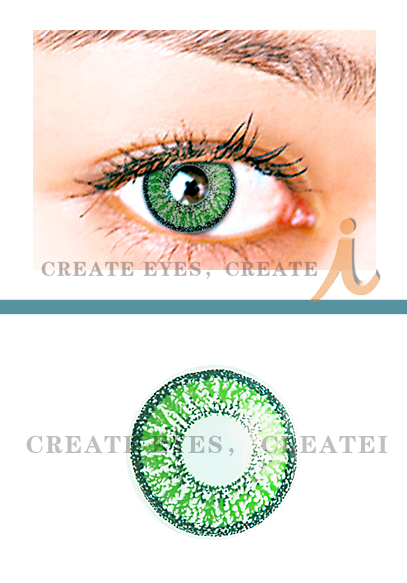 Green Double Colored Contacts (PAIR)