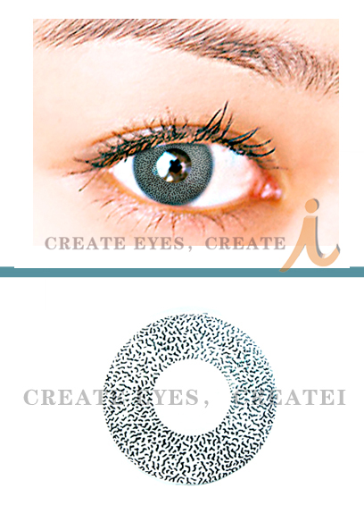 Grey Single Colored Contacts (PAIR)